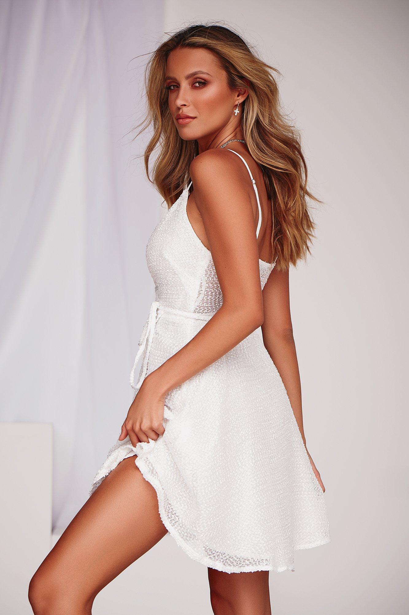 Caught Your Eye 2.0 Dress (White)