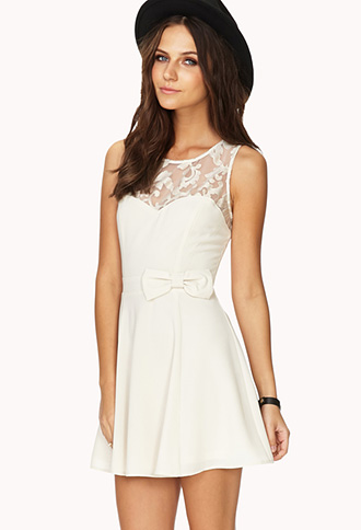 Opulent Mesh A-Line Dress | FOREVER21 - 2000140214