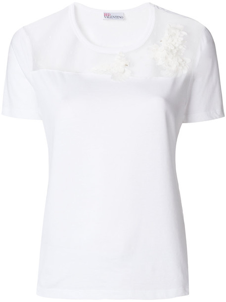 t-shirt shirt t-shirt sheer women white cotton top