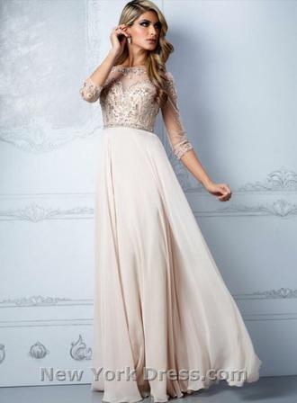 dress gold dress gold sequins gold prom dress beaded dress mid sleeve chiffon dress long dress