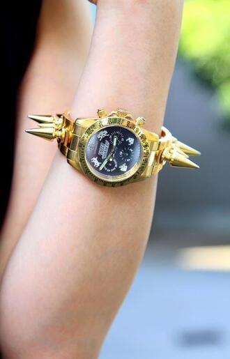 jewels watch gold gold watch spikes amazon