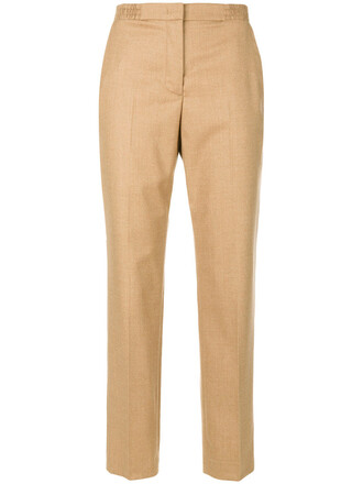 cropped women spandex nude wool pants