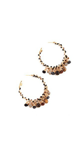 pompon earrings earrings gold jewels