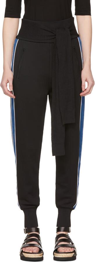 pants blue black