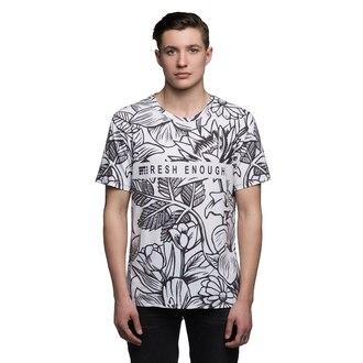 t-shirt white print floral fusion monochrome printed t-shirt menswear hipster menswear urban menswear style