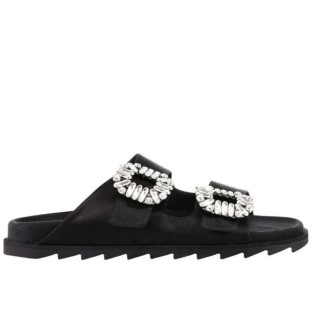 Roger Vivier sandals shoes women sandals shoes flat sandals black