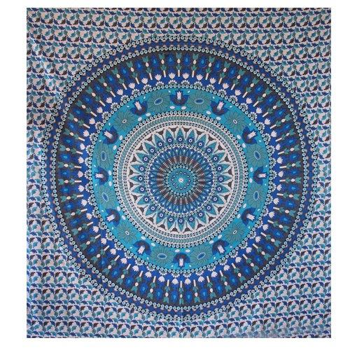 Online Blue Star Mandala Wall Tapestry - HandiCrunch.com