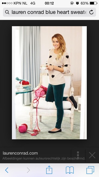 lauren conrad black hearts sweater
