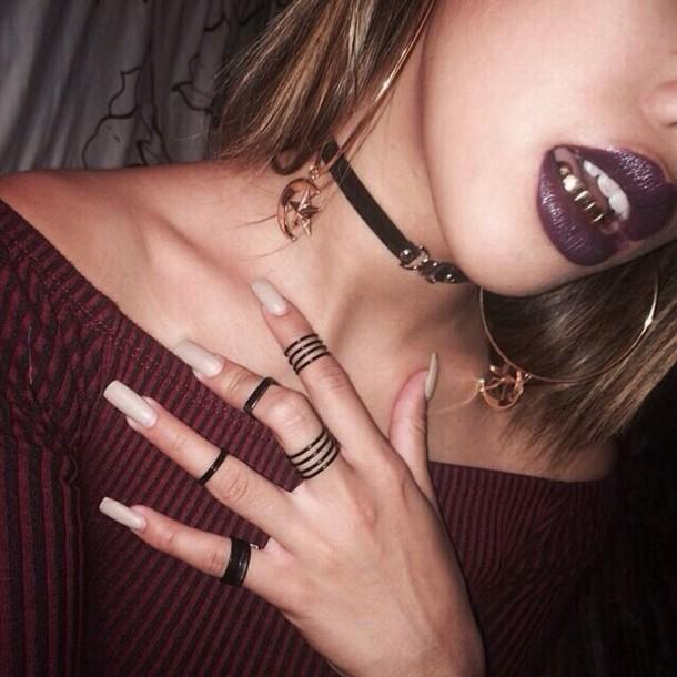 jewels black rings