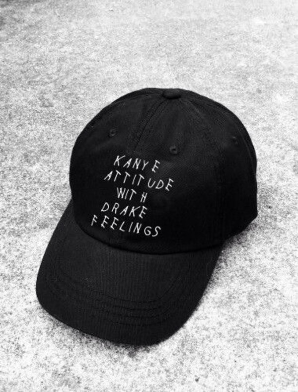 hat black kanye west drake cap black cap