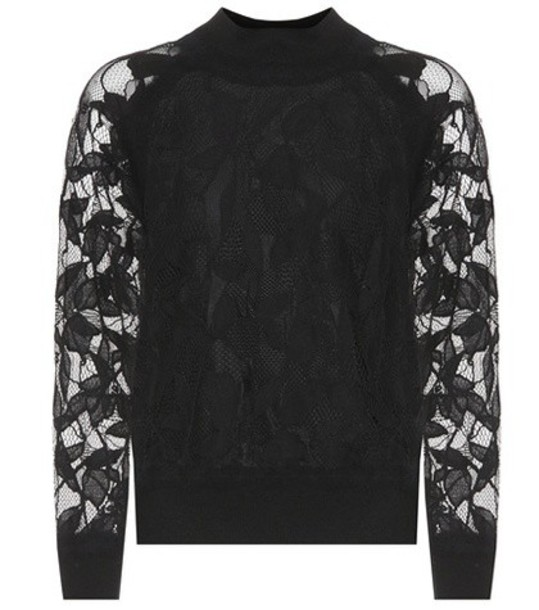 Rag & Bone sweater lace cotton black