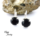 jewels,siggy jewelry,earrings,jewelry,black earrings,black,jet black,style,diva,fashion,swag,trendy,bling,drop earrings,chic,elegant,outfit,etsy,shopping,hand made,crystal earrings,large stone,black accessories,accessories