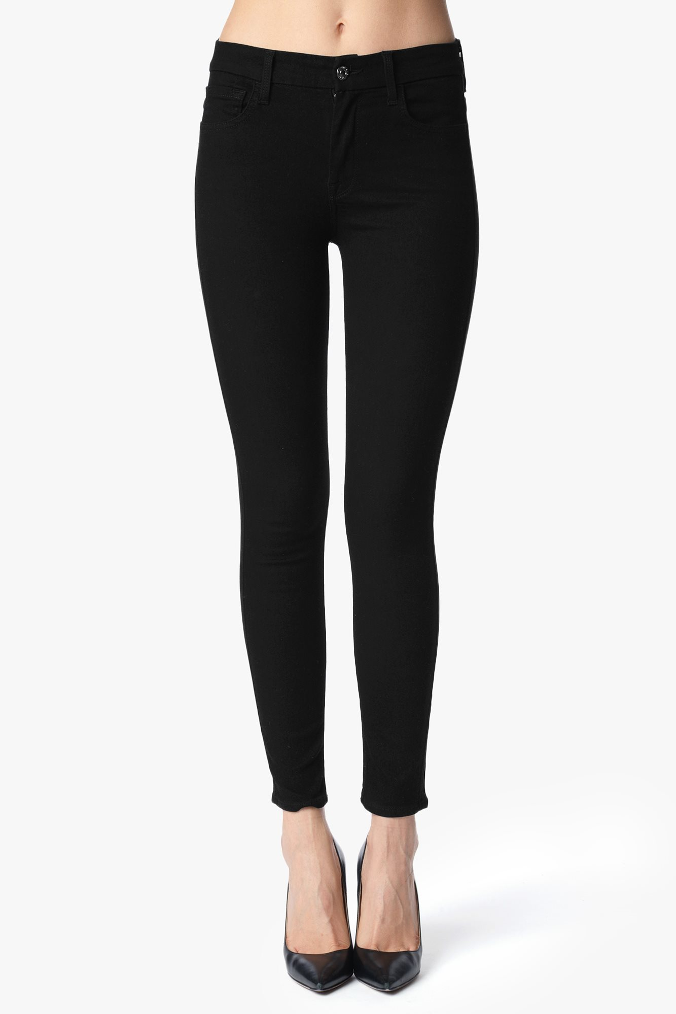 """The second skin slim illusion high waist ankle skinny in elasticity black (28"""" inseam)"""