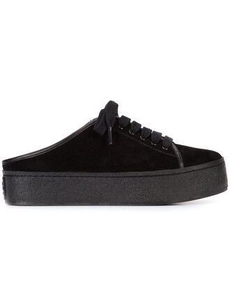 embroidered women sneakers suede black shoes