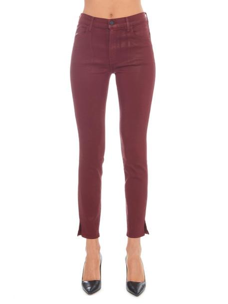 J Brand 'alana' Jeans in burgundy