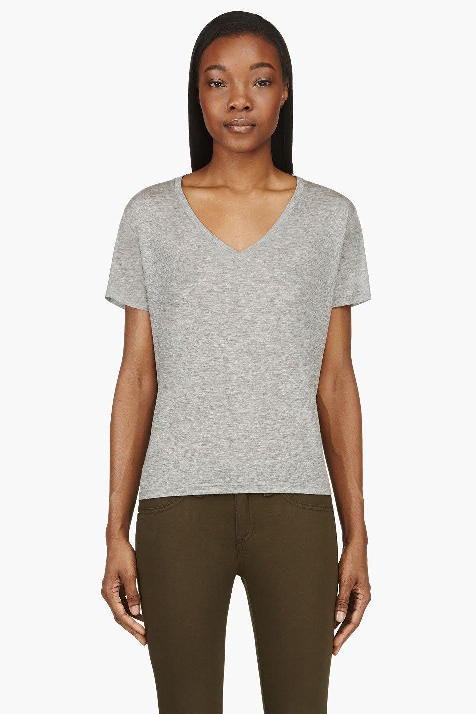 J brand grey v neck janis modal t shirt for Branded v neck t shirts