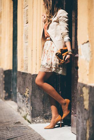 mi aventura con la moda blogger spring outfits zara heels nude high heels