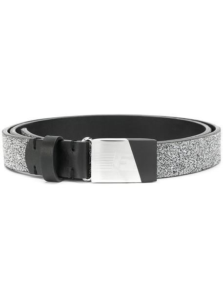 GOLDEN GOOSE DELUXE BRAND women embellished belt leather grey metallic