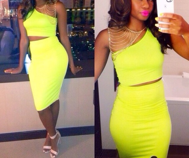 dress neon jewels