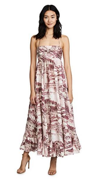 Zimmermann dress long dress long hawaiian print