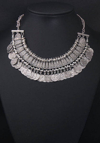 Silver Coin Necklace | Lookbook Store