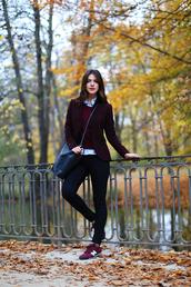 maritsa,blogger,preppy,nike sneakers,blazer,leather bag,lacoste,jacket,shoes,bag,jewels