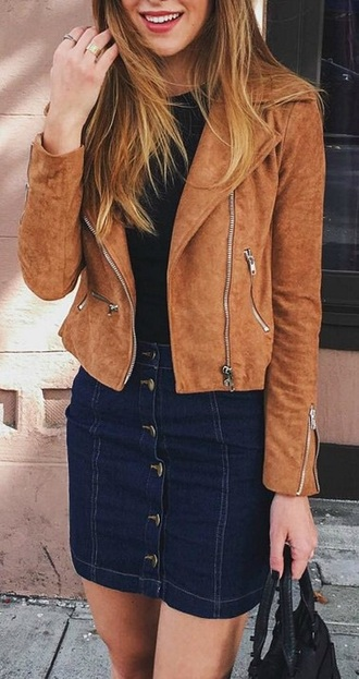 jacket tan suede brown jacket suede jacket