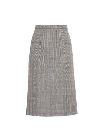 skirt pencil skirt white black