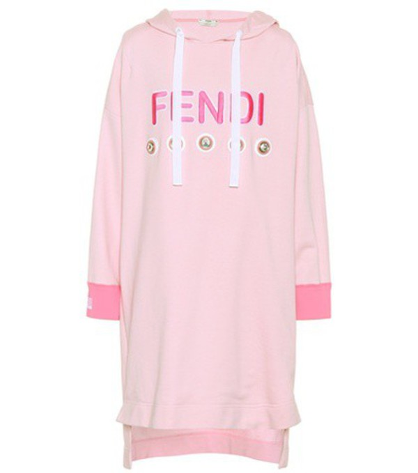Fendi Exclusive to mytheresa.com – embellished sweatshirt dress in pink