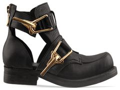 Jeffrey campbell roscoe in black distressed at solestruck.com