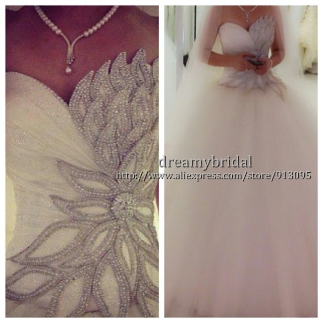 Aliexpress.com : Buy 2014 New Arrival Fashion Ball Gown Tulle Beaded Gelinlik Modelleri Wedding Dresses Bridal Gown Vestidos De Novia Free Shipping from Reliable gown pants suppliers on Suzhou dreamybridal Co.,LTD