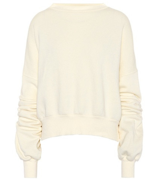 Unravel Cotton jersey sweater in white