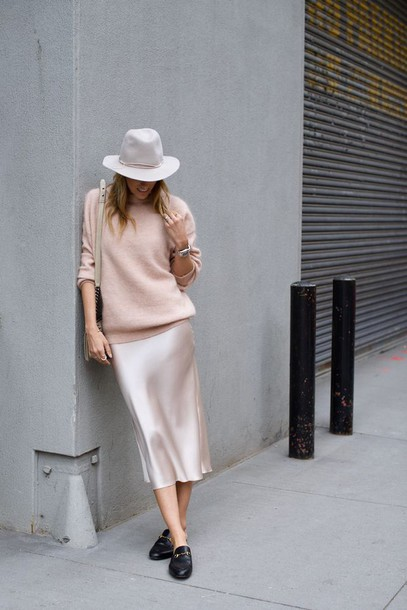 1eec9eeaa7dc dress tumblr midi dress sweater over dress pink sweater sweater slip dress  pink dress silk slip