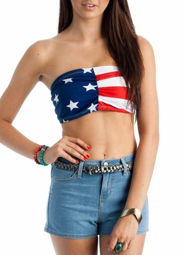 American flag bandeau from kimani couture boutique on storenvy