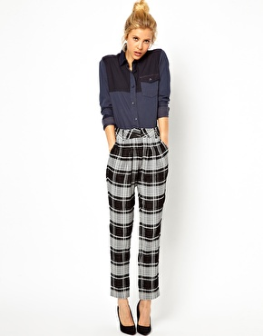 ASOS | ASOS Premium Trousers In Check at ASOS