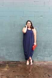 somethinggoldsomethingblue,blogger,dress,shoes,bag,jewels,plus size dress,plus size,clutch,red bag,wedges,sandals,summer outfits