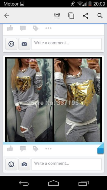 jumpsuit tracksuit ripped