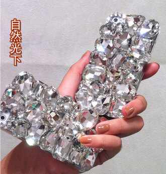 crystal quartz diamonds phone case iphone 4 case phone case
