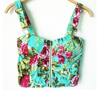 Green Hawaii Bustier