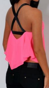 top,neon,pink,swing top,neon pink