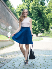 a cup of style,blogger,top,underwear,skirt,shoes,bag