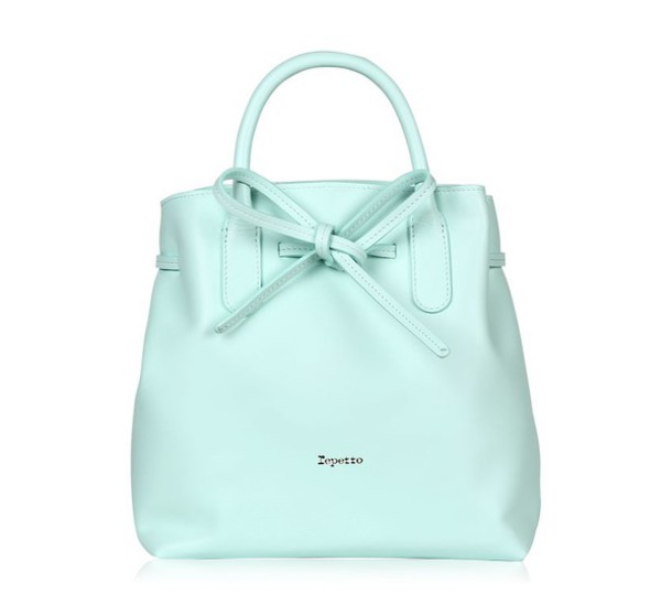 ca343b5841 bag pastel bag pastel repetto bow spring mint handbag leather bag cute bag  cute