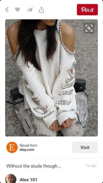 sweater studded jumper kit sweater