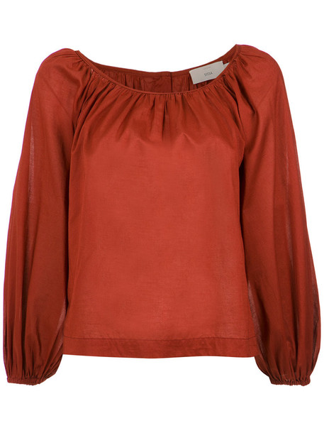 blouse pleated women cotton top