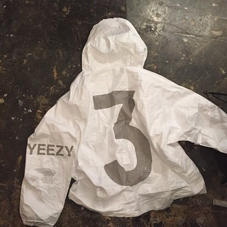 jacket number 3 yeezus yeezy windbreaker white jacket