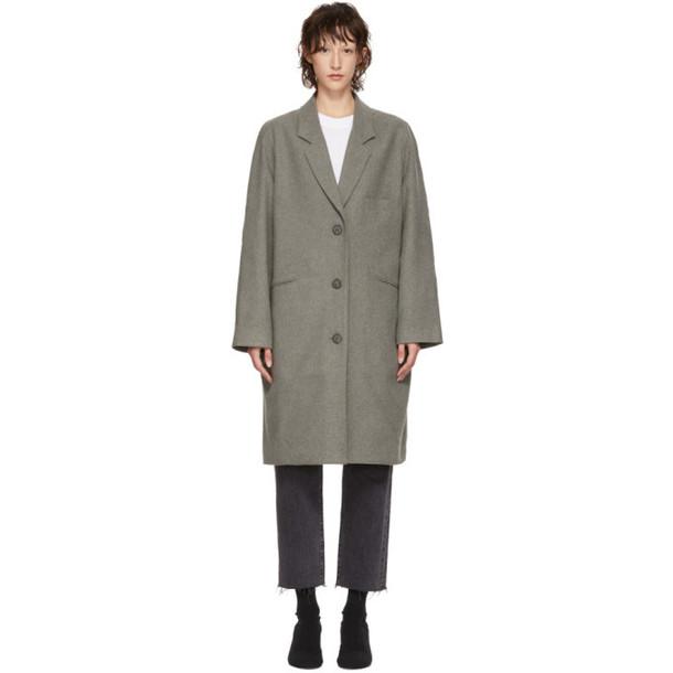 6397 Grey Felted Coat