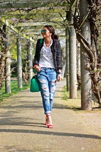 fashionhippieloves shirt jeans bag shoes sunglasses jewels