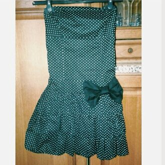 dress polka dots mini dress strapless dress polka dot strapless mini dress
