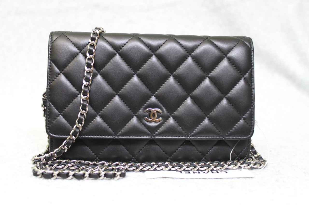 Black Quilted Lambskin Classic WOC Wallet On a Chain Bag - Sold ... : chanel quilted woc - Adamdwight.com