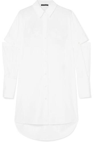 shirt oversized white cotton top